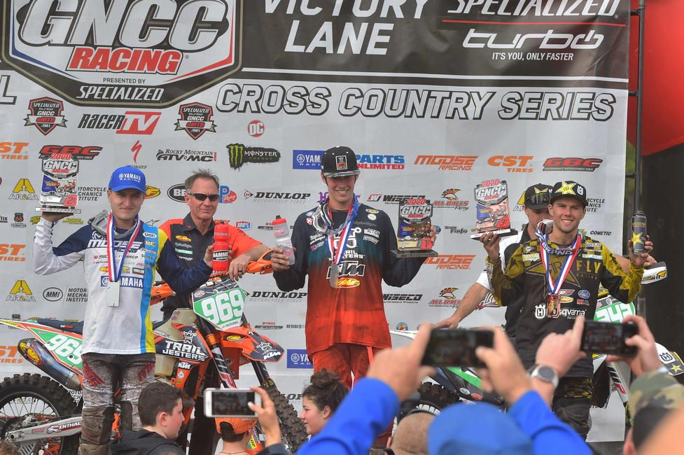 Jonathan Girroir (center) came through to take his first-ever XC2 250 Pro class win.