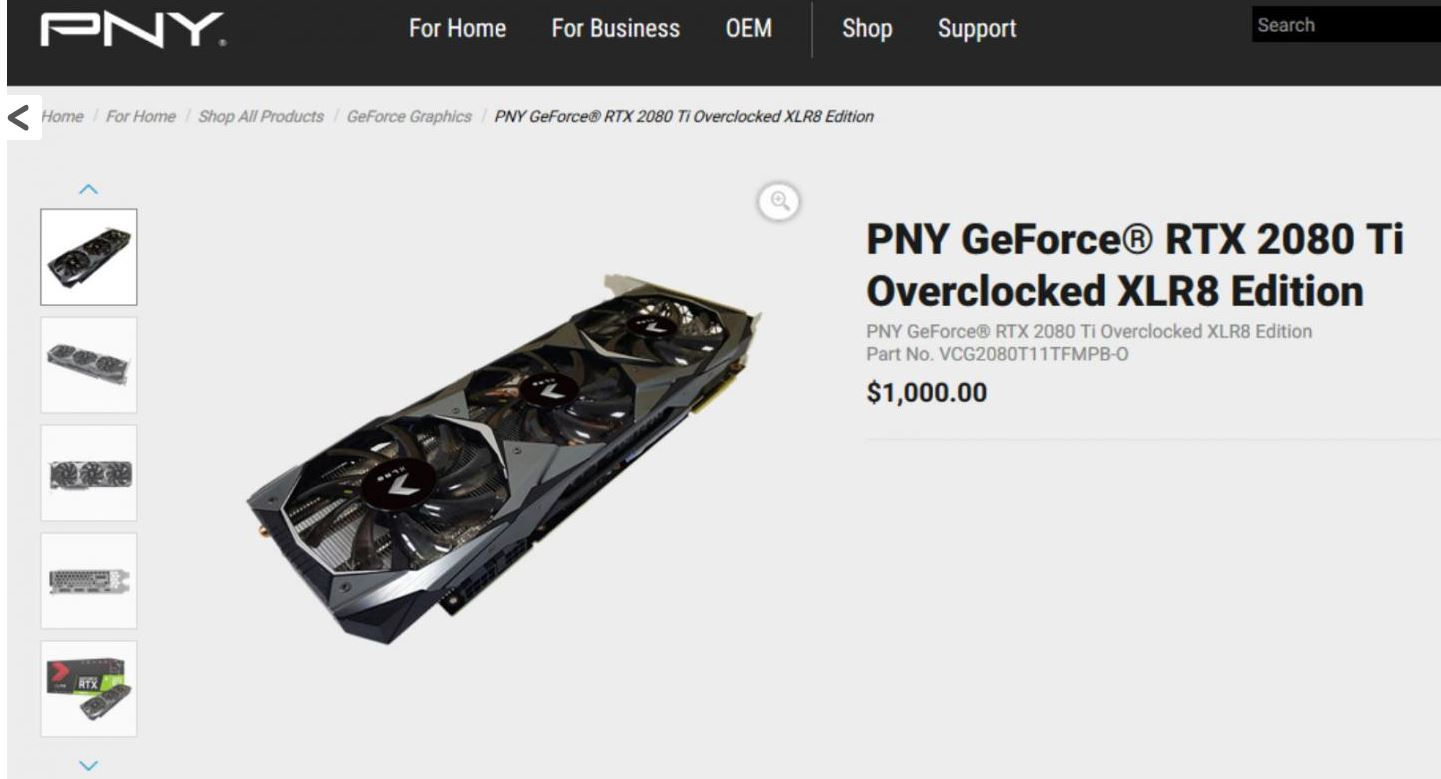 Pny Geforce Rtx And Ti Specs Revealed Gnd Tech