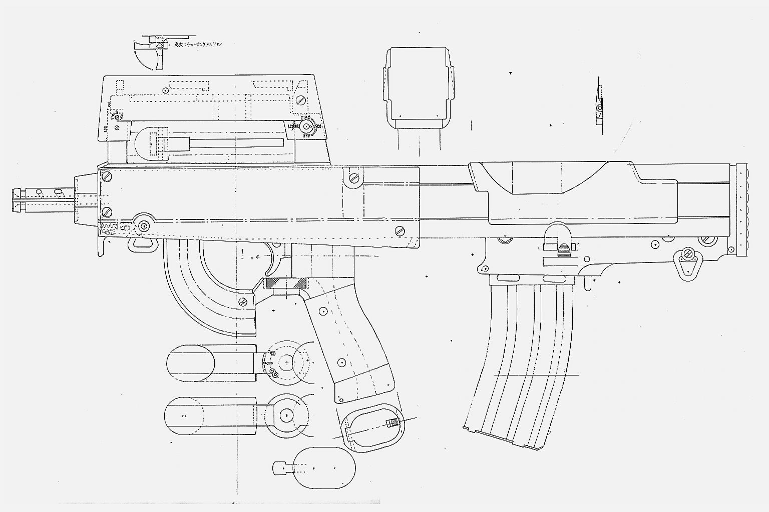 Ghost In The Shell Czn M22 9 Weapon Schematics Gndn