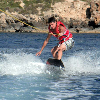 Wake boarding sessions at Ġnejna Watersports