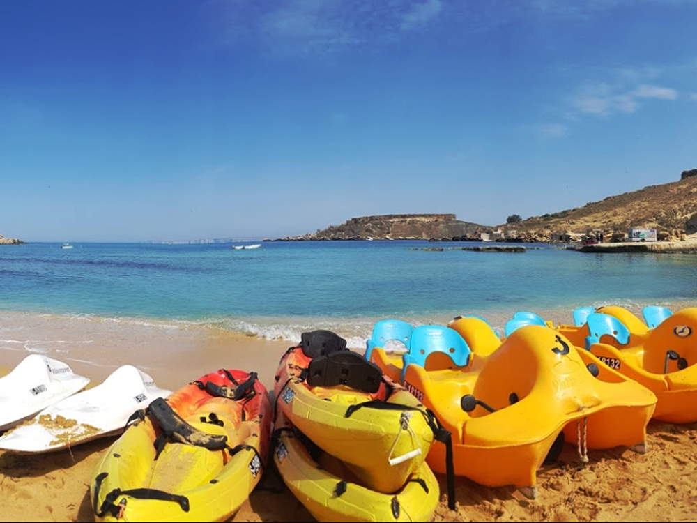 Rental of Canoes, Kayaks and Paddle Boats offered by Ġnejna Watersports