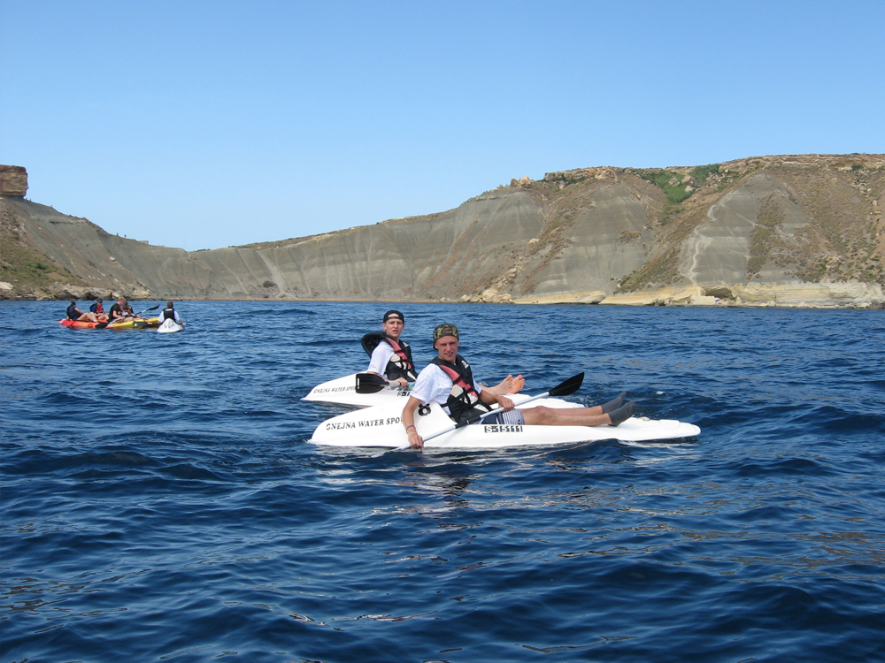 1 Seater Canoes at Ġnejna Watersports