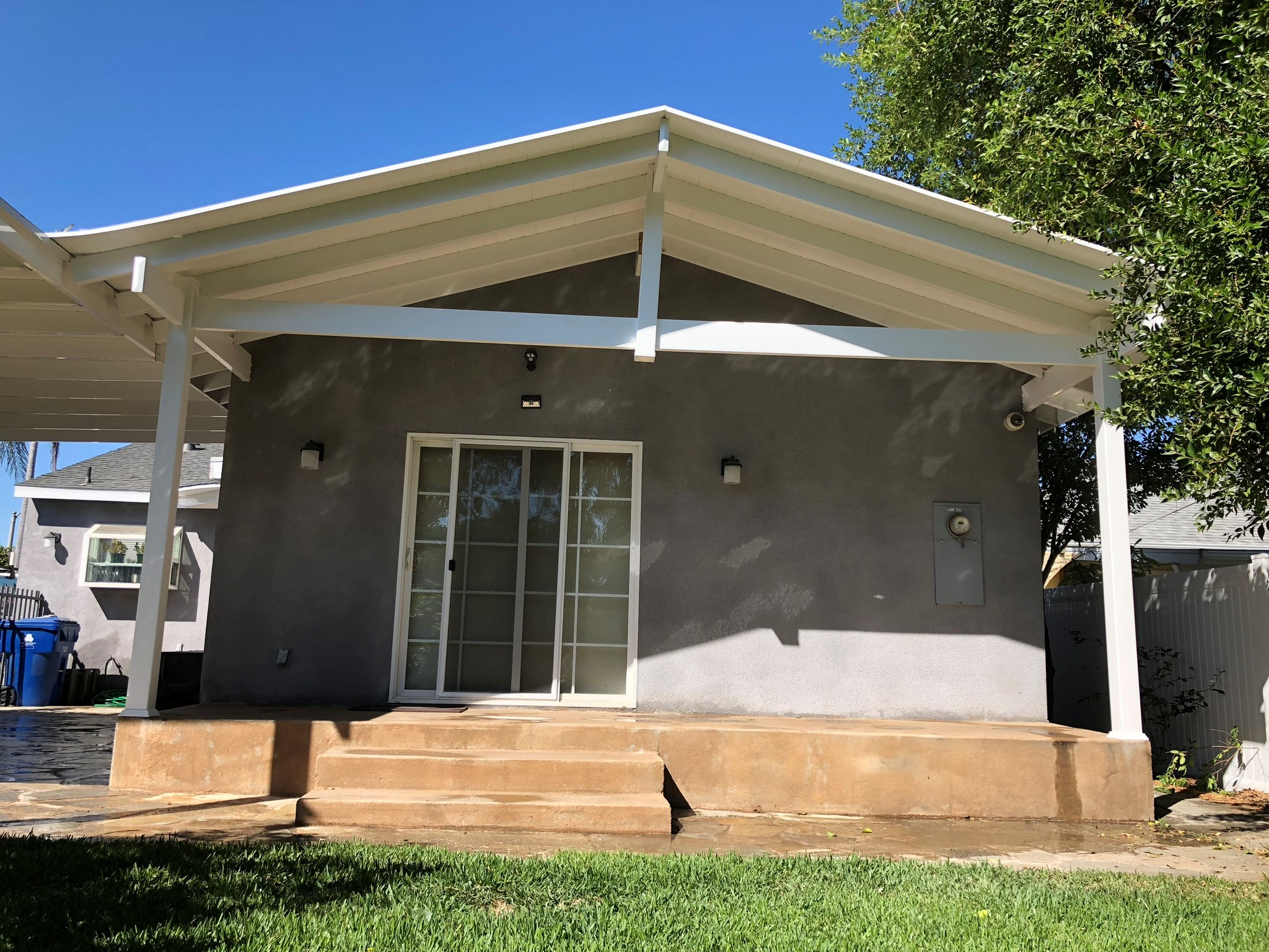 a frame shaded patio cover gng vinyl