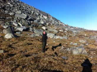 """Me on hiking trip around the local mountain """"Lille Malene""""."""