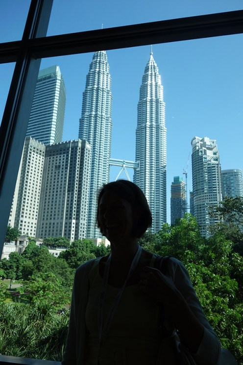View from the Kuala Lumpur's Conference Centre to the Twin Towers.