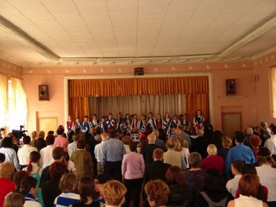 Children's event at the 551st School of Moscow, for our mission