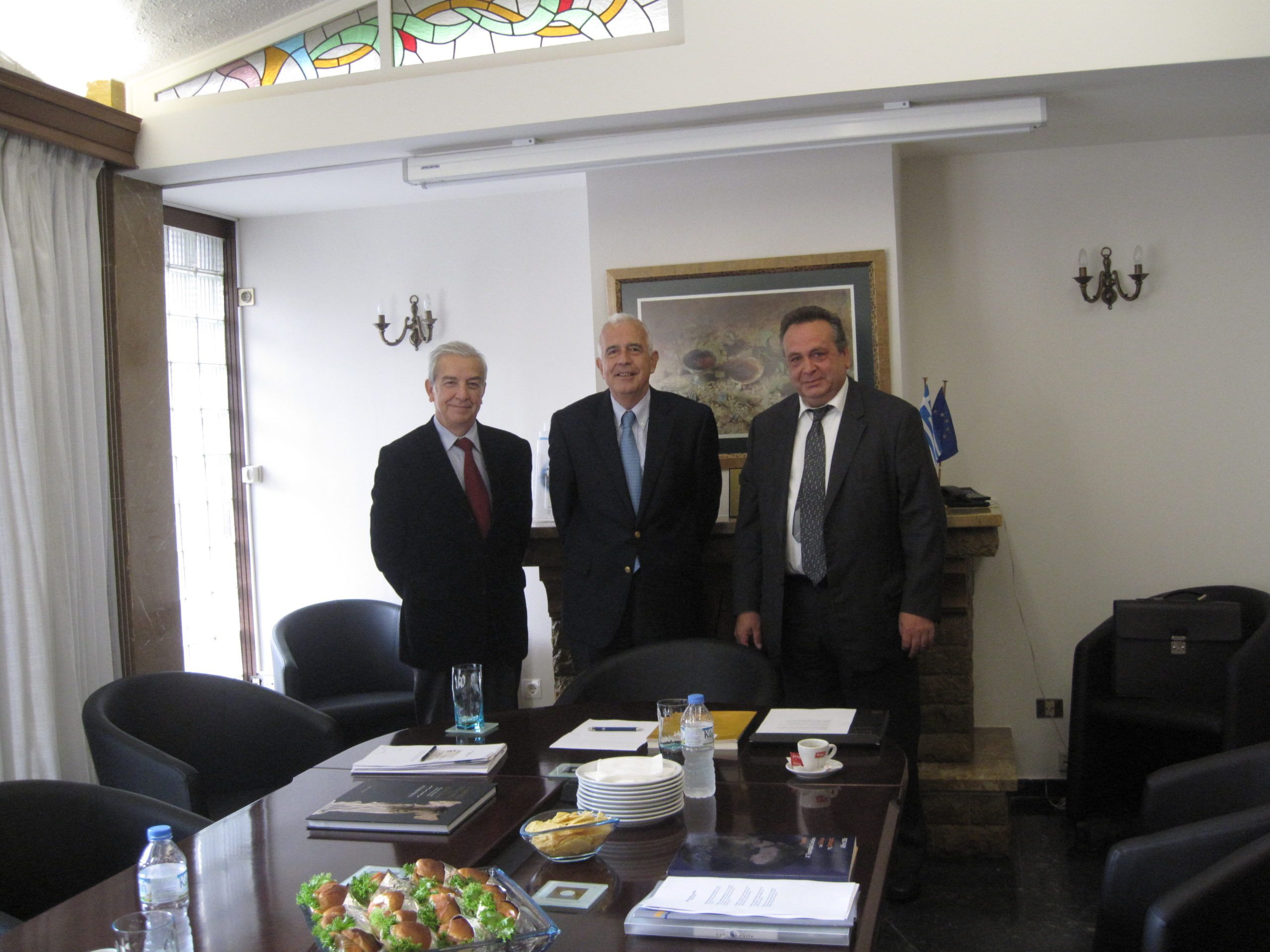 Meeting of the President of Ecumenical Hellenism with the President of the Federation of Greek Food Industries (SEVT)