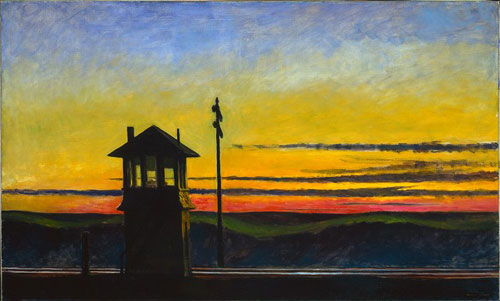 Edward Hopper's Railroad Sunset (1929) Whitney Museum of American Art