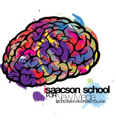 A mockup identity illustration for the Isaacson School