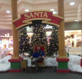 I dared Connor to slip under the ropes and dodge the glare of the mall cop to take this photo.