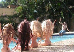 Because no all-nude Barbie pool party is complete without at least one human male...