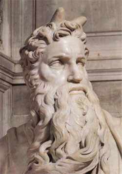 Moses-with-horns
