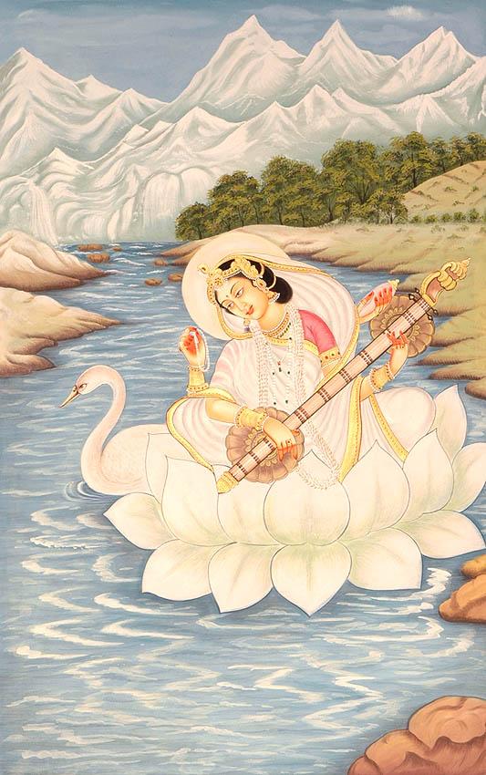 saraswati-padme