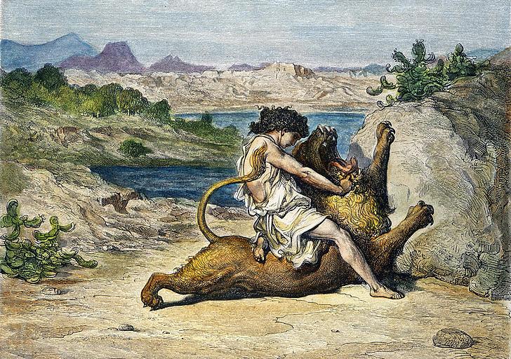 samson-slaying-a-lion-granger-crop