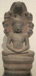 Muchilinda_Buddha_from_Cambodia,_Angkor_kingdom,_Bayon_style,_12th_century,_sandstone,_HAA