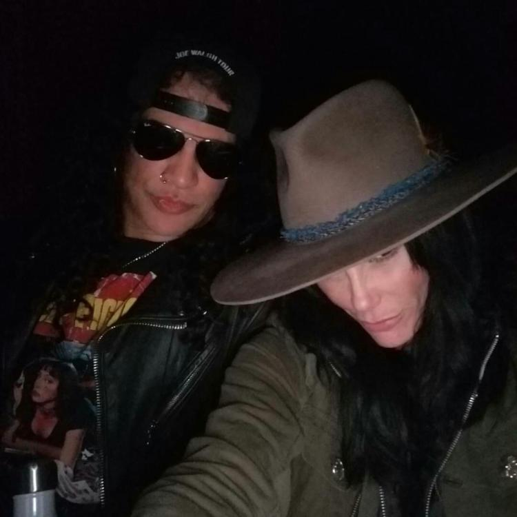 Guns N' Roses Guitarist Slash and Girlfriend Meegan Hodges Attend