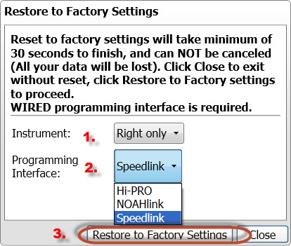 Screen shot 5 Restore options