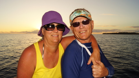 Lyn and Colin on Jetboat sunset cruise