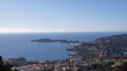 Looking over coastline near Monaco