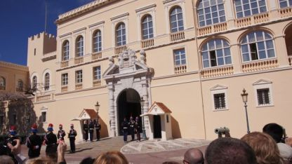 Changing of the guard at Monaco Palace