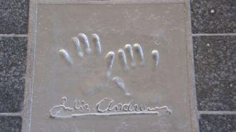 Julie Andrews hand print at Cannes