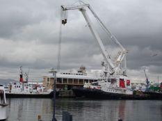 An enormous crane