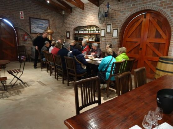 Tasting wine with local cheeses