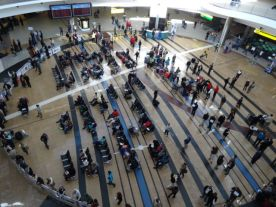 "The enormous ""atrium' at Johannesburg Airport"