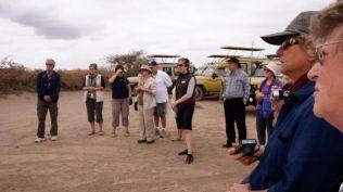Watching Maasai people dancing