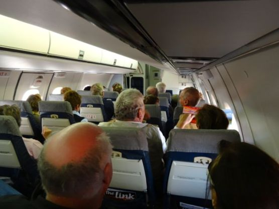 Our group nearly filled this Dash 8