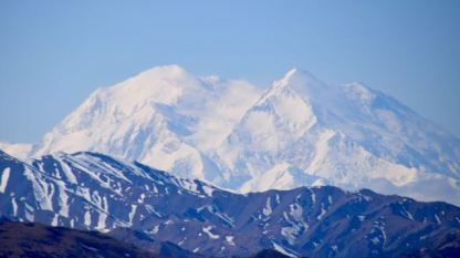 Mt McKinley from a distance - zoomed in, of course.