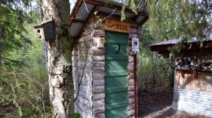 An 'outhouse' in Alaska. Use before you ride a rubber raft - for sure!