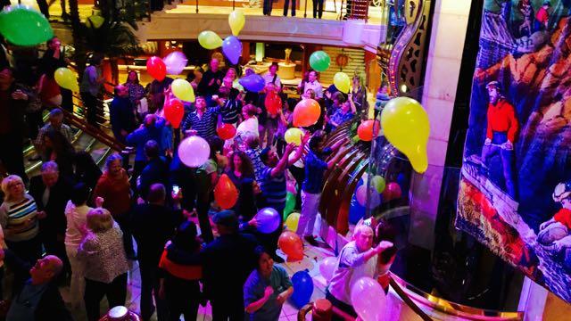 Last night's party in the atrium area.