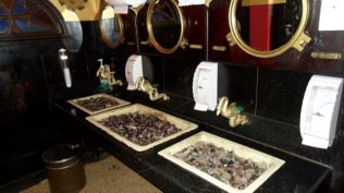 Wash Basins in the men's loo.