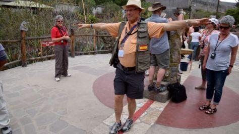 Balancing body - walking the line.