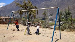 Playground - no grass.