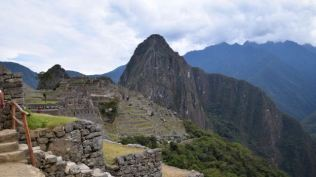 The first sight of Machu Picchu.