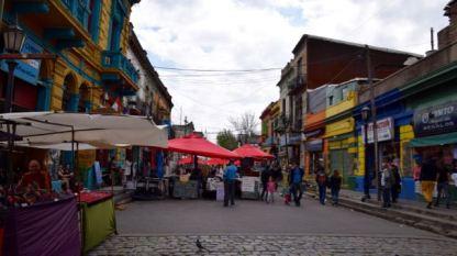 The colourful Caminito Street precinct.