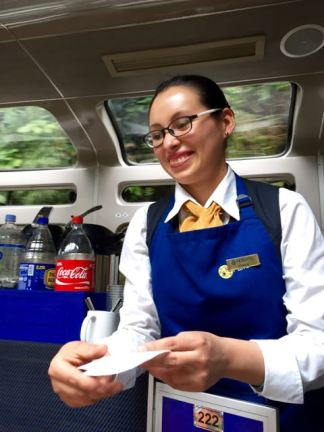 Efficient Peru Rail Hostess