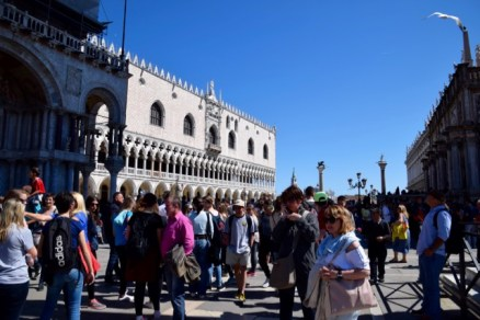 And St Mark's Square was very busy today.