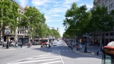 The wide boulevards of Barcelona