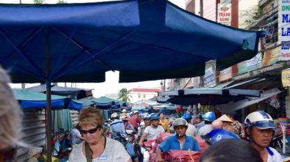 Busy market.