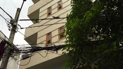 See the squirrel in the cable-ing system