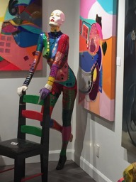 Manicans painted for an art show. Great body painting LOL!