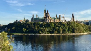 Parliament from the bridge across the Ottawa River