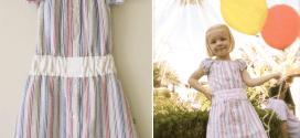خياطة فستان طفلة من قميص قديم لزوجك