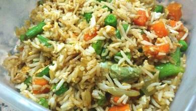 Photo of أرز الخضروات الطازجة