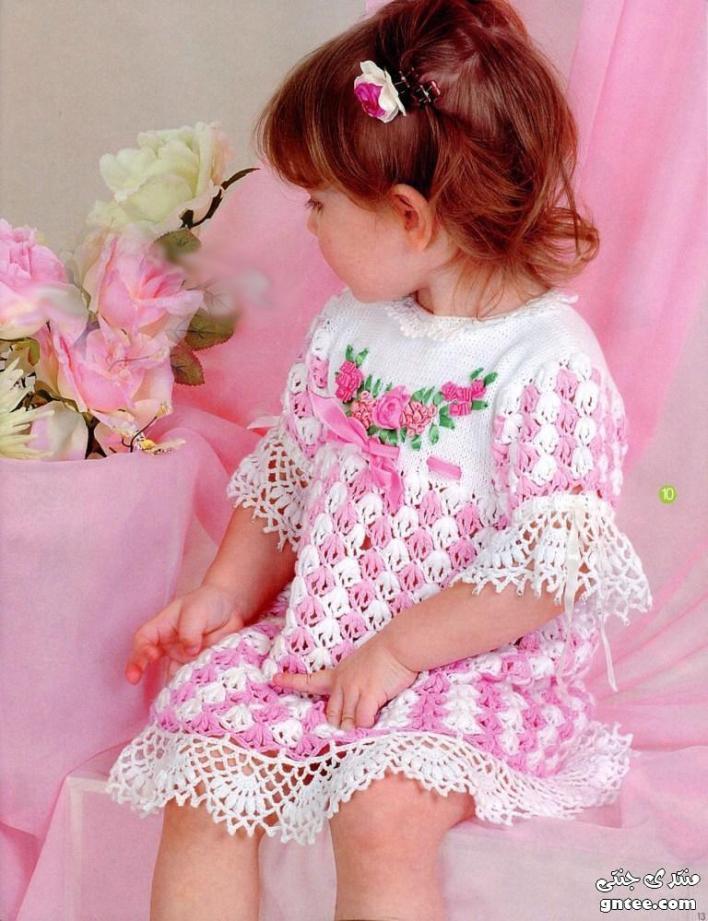 فستان كروشيه للأطفال