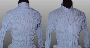 فكرة لتحويل قمص رجالى إلى بلوزة حريمى