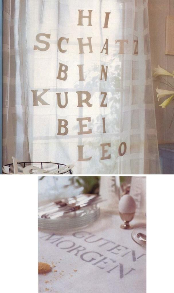 قماش مزين بالحروف الأبجدية